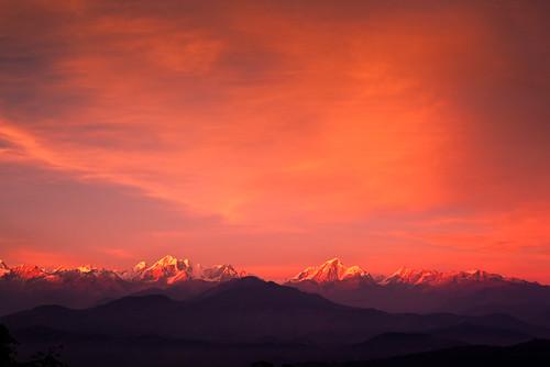 nepal nature landscape 日落 尼泊尔 杜丽凯尔