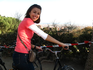 Biking up the mountain!