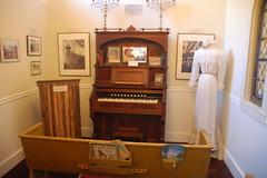 Pump Organ and Pews