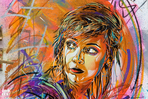 French street artist C215's New London Stencil Portraits