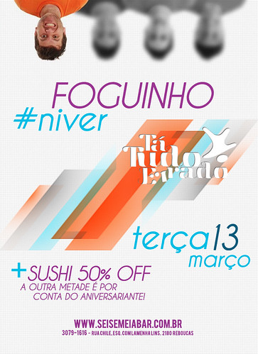 Flyer Aniversário - Foguinho by chambe.com.br