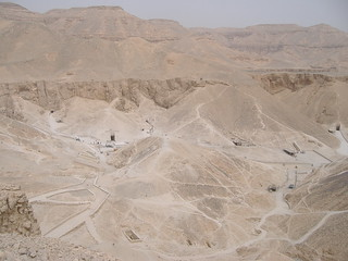 Pathways and tombs of the Valley of the Kings