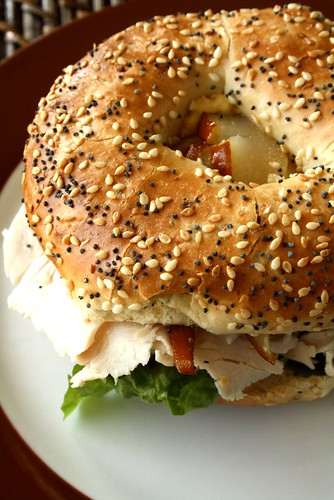Dempster's Bagels with Turkey, Pear & Brie