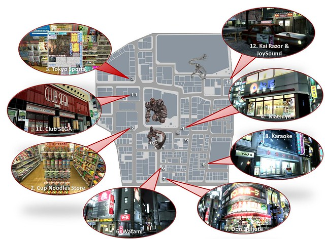 Kamurocho Map ORIGINAL