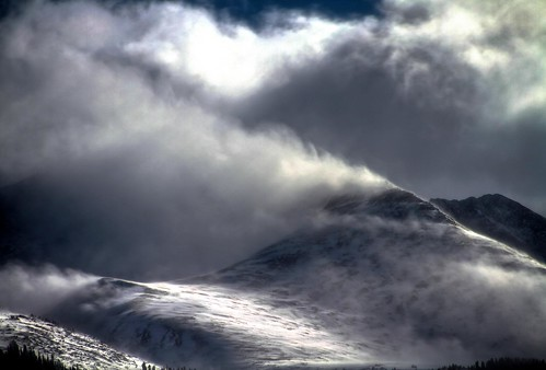 無料写真素材, 自然風景, 山, 雪山, 暗雲