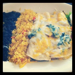 Traditional St. Paddy's Day lunch. Spinach enchiladas. What?