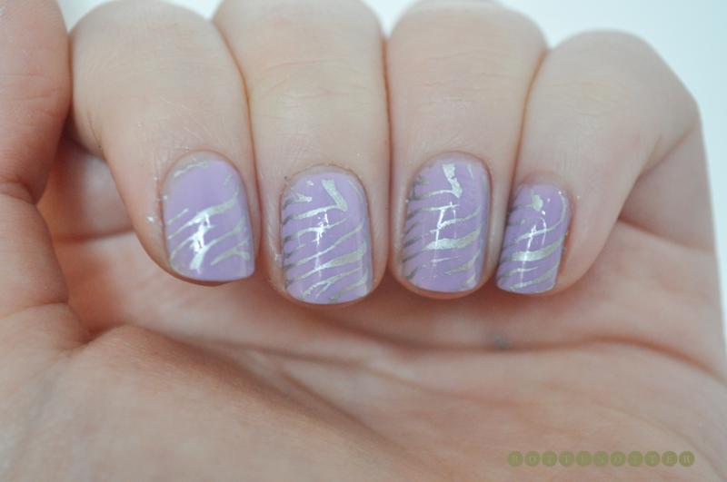 essie nice is nice nail polish notd zebra konad nail art 1