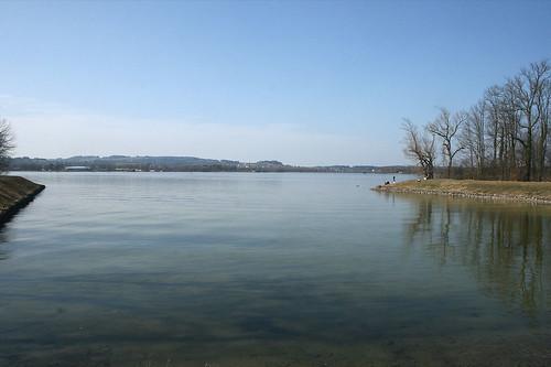 Am Ufer der Herreninsel - Blick in Richtung Prien