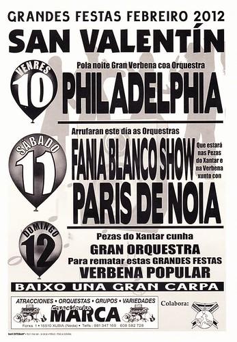 Fene 2012 - Festas en San Valentín - cartel