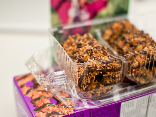 A full box of Samoas