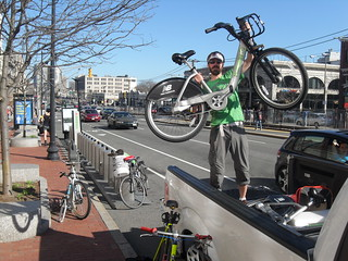Hubway station gets Hubway bikes!