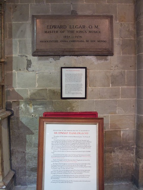Elgar Memorial, Worcester Cathedral