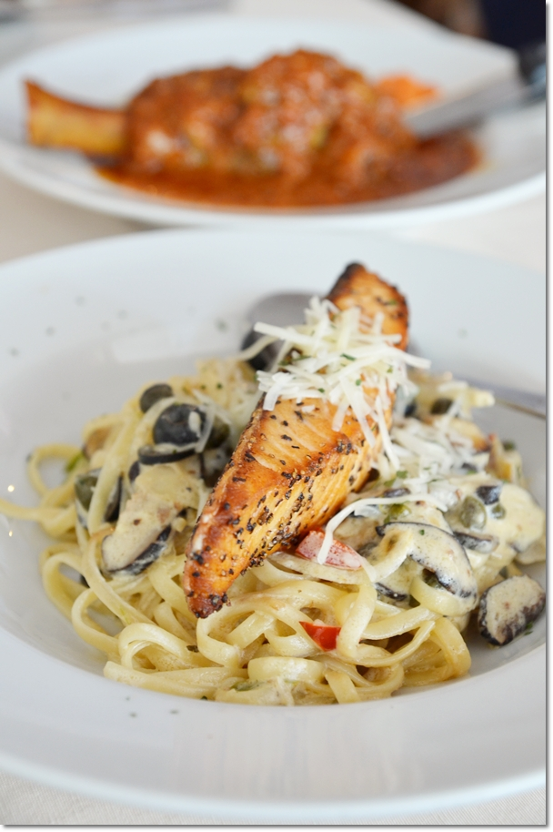 Grilled Salmon Pasta