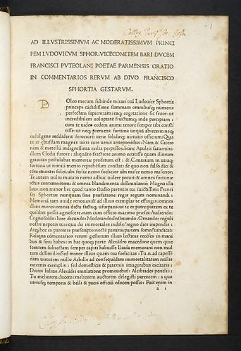Ownership inscriptions in Simoneta, Johannes: Commentarii rerum gestarum Francisci Sfortiae