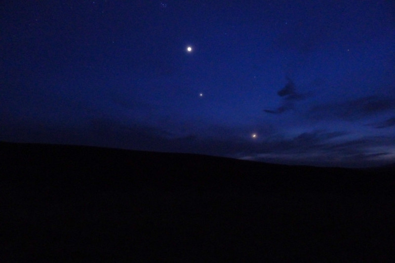 Venus, Jupiter and the Moon