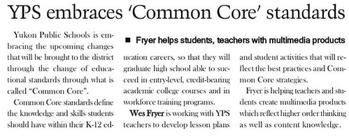 YPS Embraces 'Common Core' standards