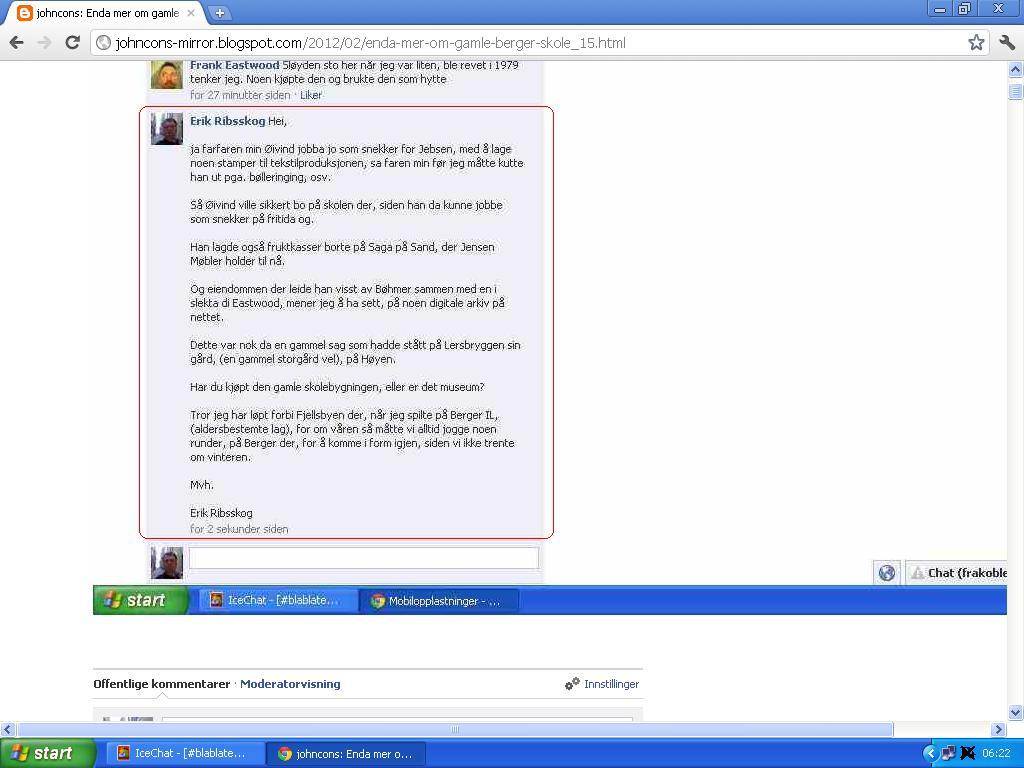 mer om slettet facebook melding