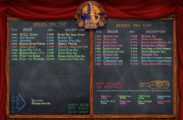 On Tap Today at Russian River