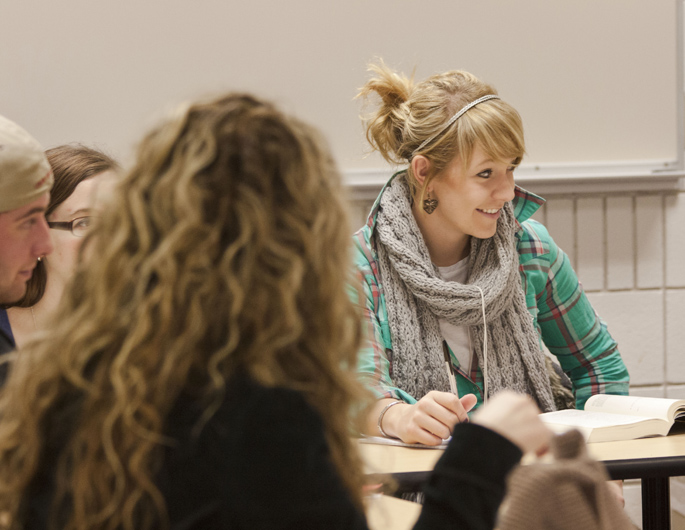 Students Discussing a Novel in British Literature Class
