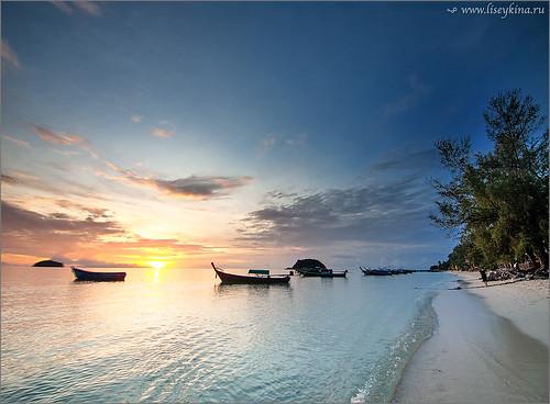 ocean morning sea sun sunrise thailand kolipe satun kohlipe bankolipe