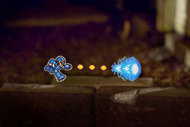 Megaman 8 bit (Light Stencil)