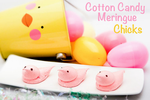 Cotton Candy Meringue Chicks