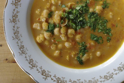Curried Chickpea with Tomatoes, Ginger and Cilantro
