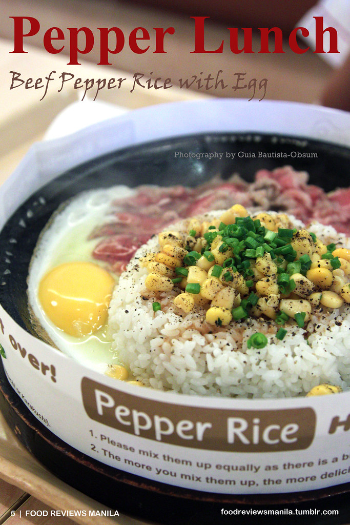Beef Pepper Rice from Pepper Lunch