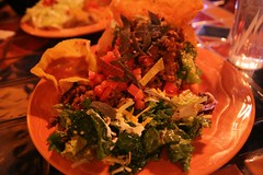 Taco salad with veggie-ground round