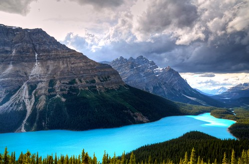Peyto Lake & Clouds