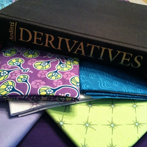 105:365 My weekend: a little fabric & a little light reading.