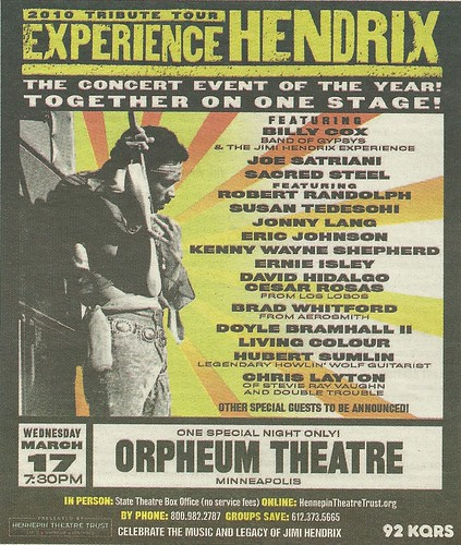 03/17/10 Experience Hendrix @ Orpheum, Minneapolis, MN