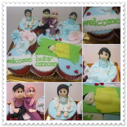 Cupcake for baby by DiFa Cakes