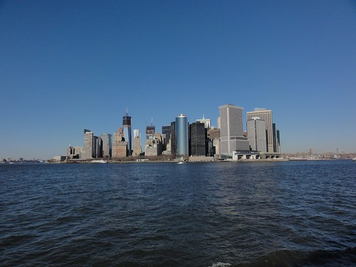 View of Lower Manhattan from New York Harbour