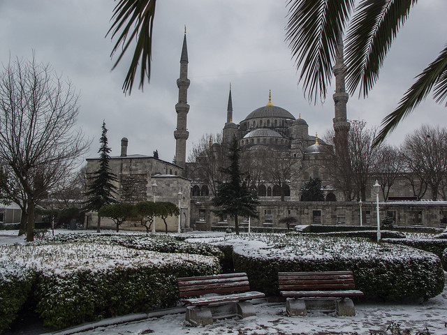 Blue Mosque in the Snow