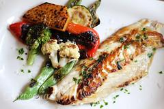 Pescado en un menú de dieta sana