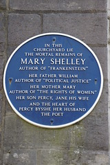 Photo of Mary Shelley and Percy Bysshe Shelley blue plaque