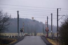 Passage à niveau voie ferrée en Belgique