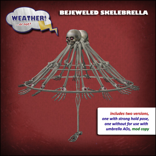 Bejeweled Skelebrella