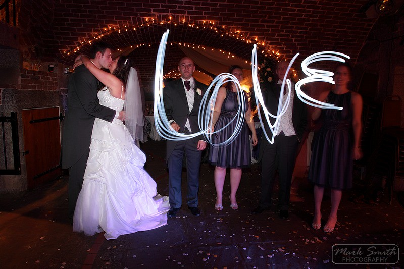Love lights wedding