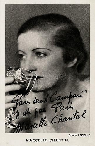 Marcelle Chantal, publicity for Campari