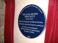 Photo of William Henry Brockett blue plaque