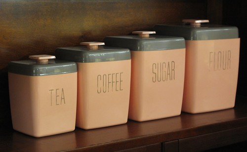 Tea Coffee Sugar Flour Canisters