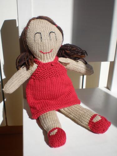 muñeca lola tejida a mano doll knit pattern