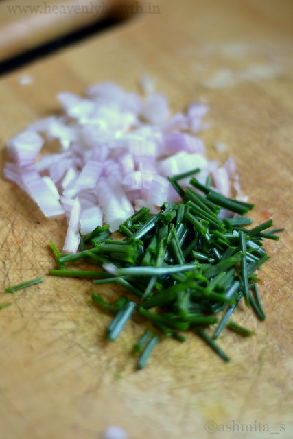 Chopped Onions and Chives for Pasta
