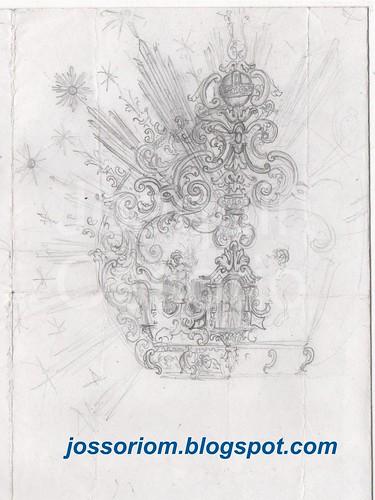 Primer boceto para la corona de la Estrella 1997 by jossoriom