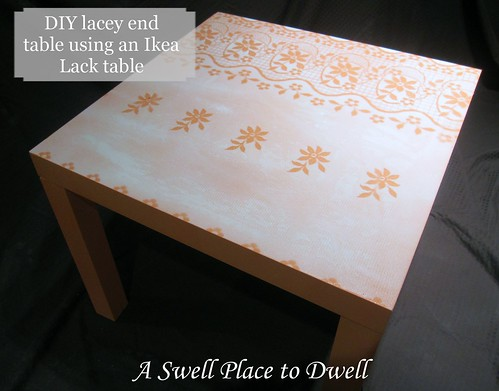 Lacey End Table - Ikea Lack Hack with caption