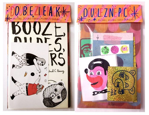Double Zine Pack with Pacolli available on High In The Bay by Michael C. Hsiung