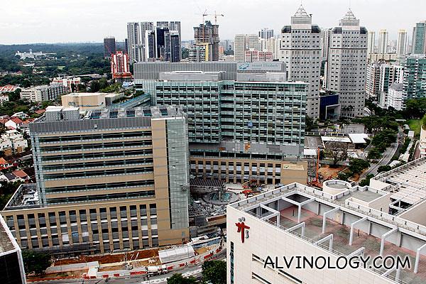 View facing Tan Tock Seng Hospital