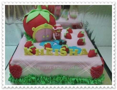 Strawberry Shortcake for Kheisha by DiFa Cakes